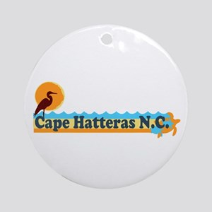 Cape Hatteras NC - Beach Design Ornament (Round)