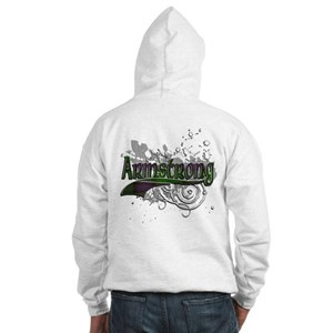 Armstrong Tartan Grunge Hooded Sweatshirt