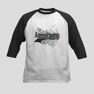 Armstrong Tartan Grunge Kids Baseball Jersey