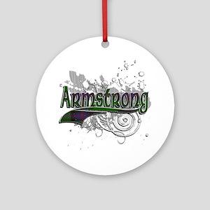 Armstrong Tartan Grunge Ornament (Round)