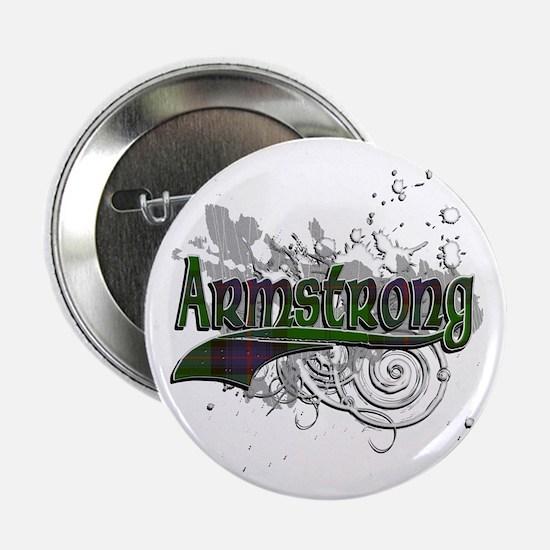 """Armstrong Tartan Grunge 2.25"""" Button"""