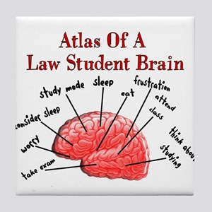 Law Student Tile Coaster