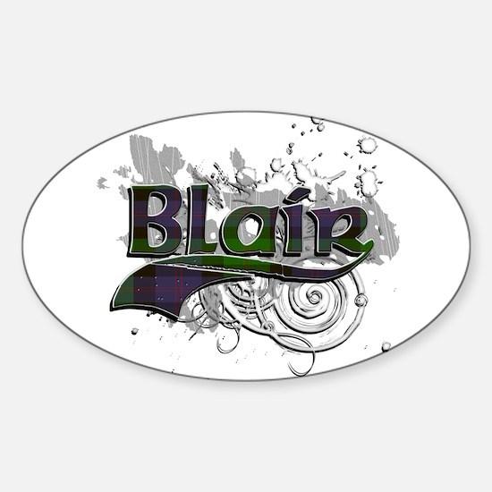 Blair Tartan Grunge Sticker (Oval)