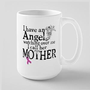 Breast Cancer Mother Angel Large Mug