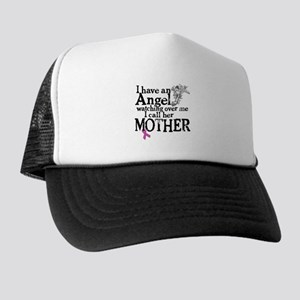 Breast Cancer Mother Angel Trucker Hat