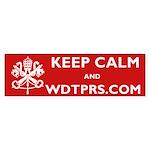 KEEP CALM WDTPRS.COM Sticker (Bumper)