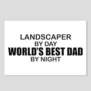 World's Best Dad - Landscaper Postcards (Package o