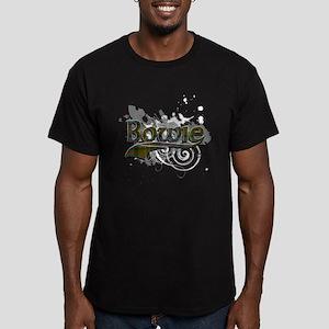 Bowie Tartan Grunge Men's Fitted T-Shirt (dark)