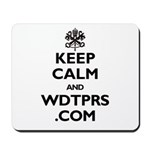 KEEP CALM WDTPRS.COM Mousepad