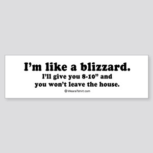 I'll give you 8-10 inches - Bumper Sticker