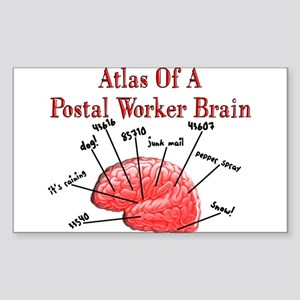 Postal Worker III Sticker (Rectangle 10 pk)