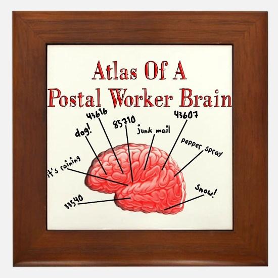 Postal Worker III Framed Tile