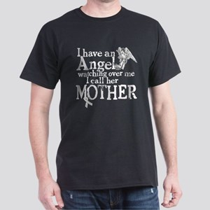 Lung Cancer Mother Angel Dark T-Shirt
