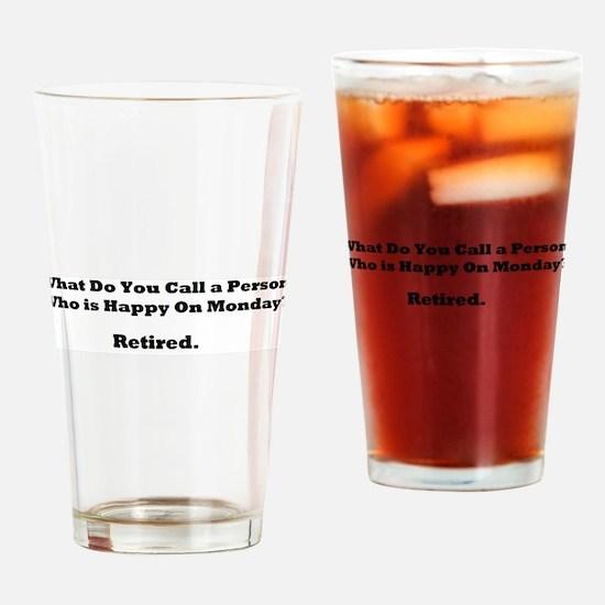 Retired Happy Drinking Glass