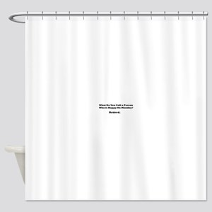 Retired Happy Shower Curtain