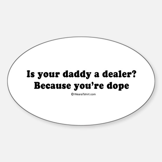 Pickup Lines ~ Oval Decal