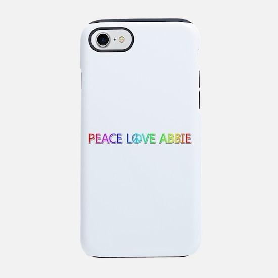Peace Love Abbie iPhone 7 Tough Case