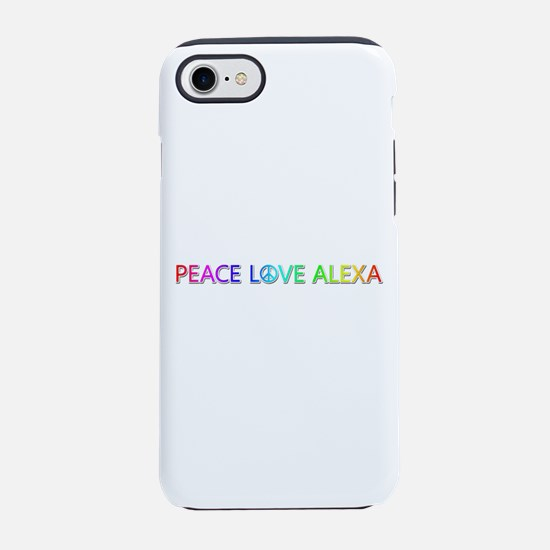 Peace Love Alexa iPhone 7 Tough Case
