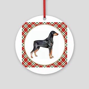 Doberman Pinscher Ornament (Round)