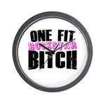 One Fit Bitch Wall Clock