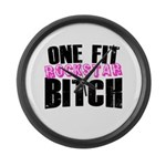 One Fit Bitch Large Wall Clock