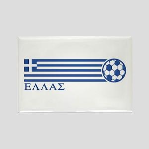 Greece Soccer Rectangle Magnet