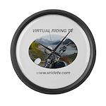 Handlebar view logo Large Wall Clock