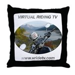 Handlebar view logo Throw Pillow