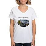 Handlebar view logo Women's V-Neck T-Shirt