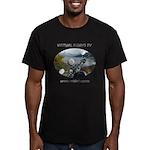 Handlebar view logo Men's Fitted T-Shirt (dark)