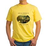 Handlebar view logo Yellow T-Shirt