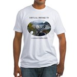 Handlebar view logo Fitted T-Shirt
