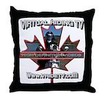 Virtual Riding TV maple leaf Throw Pillow