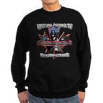 Virtual Riding TV maple leaf Sweatshirt (dark)