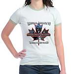 Virtual Riding TV maple leaf Jr. Ringer T-Shirt