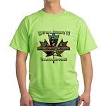 Virtual Riding TV maple leaf Green T-Shirt