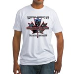 Virtual Riding TV maple leaf Fitted T-Shirt