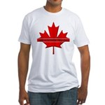 Vridetv maple leaf logo Fitted T-Shirt