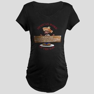 CHICKEN STRIP Maternity Dark T-Shirt
