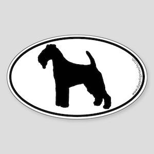 Welsh Terrier SILHOUETTE Oval Sticker