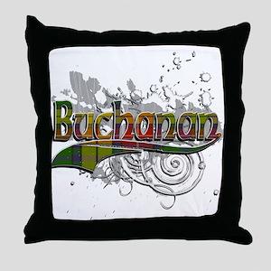 Buchanan Tartan Grunge Throw Pillow