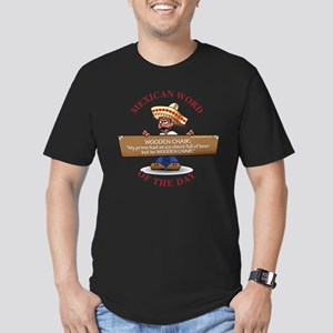 WOODEN CHAIR Men's Fitted T-Shirt (dark)