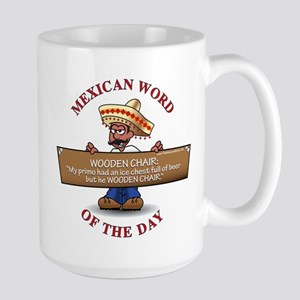 WOODEN CHAIR Large Mug