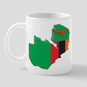 3D Zambia Map Mug