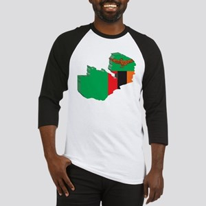 3D Zambia Map Baseball Jersey