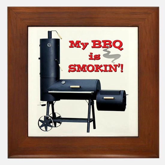 My BBQ is Smokin'! Framed Tile