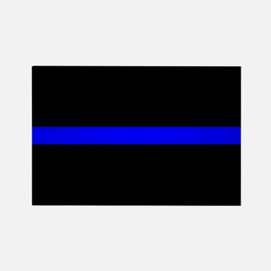 Police Thin Blue Line Rectangle Magnet