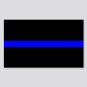 Police Thin Blue Line Sticker (Rectangle) c2cf918359a7