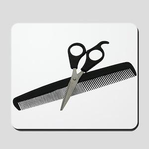 Scissors and Comb Mousepad