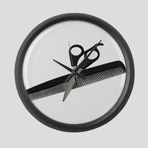 Scissors and Comb Large Wall Clock